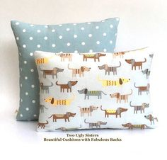 Dachshund Cushion Sausage Dog Gift Dog Pillow Gift for Dog Lover Child's Pillow Nursery Duck Egg Blue Cover Two Ugly Sisters Free Shipping Pet Gifts, Dog Lover Gifts, Kids Gifts, Blue Cushions, Scatter Cushions, Duck Egg Blue Bedroom, Childrens Cushions, Playroom Decor, Kids Pillows