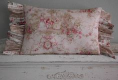 French Pink Toile Marie Antoinette Pillow RESERVED by Pattypillow