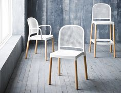 Panama from GABER / http://www.oplanfurniture.com  The chair was born from technological research and experimentation  in the use of materials. The soft and actual lines countersign its design.