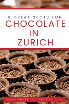 Every true foodie knows that Switzerland is where you need to go to find the best chocolates in the world. From quaint little chocolatier shops in Geneva to chocolate factories in Zurich – if it's made from cocoa beans, it is in Switzerland. And what better city to visit to truly experience chocolate than Zurich, the capital of both the country and the Chocolatier world? #switzerland #chocolate #zurich #foodie