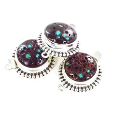 Purple Spiny Oyster Clasp with Turquoise Ball Design