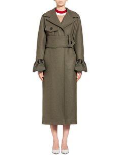 Runway coat in felted wool