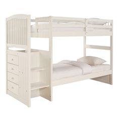 Create more space in your child's room with this bunk bed.