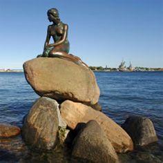 La sirenita de Copenhague, Dinamarca. Turismo en Copenhague.