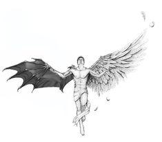 Nephilis are perfect, Tattoo Sketches, Tattoo Drawings, Art Sketches, Art Drawings, Body Art Tattoos, Sleeve Tattoos, Skull Tattoos, Evil Tattoos, Wing Tattoos