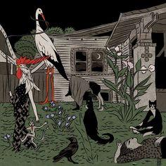 Bajo el nombre deTin Can Forest estánPat Shewchuk yMarek Colek, dos artistas canadienses especializados en un estilo de ilustración eslavo, muy a lo folclore oculto genial.