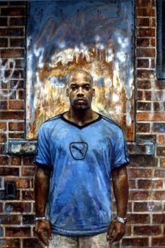 Tim Okamura Jerome in Blue T-shirt  http://www.axisart.ca/artists/timOkamura.php