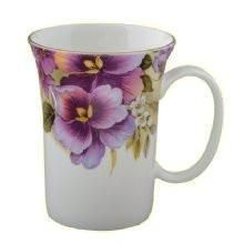 Set of 4 Pansy Fine Bone China Mugs - Roses And Teacups - Set of 4 Pansy Bone China Mugs - Porcelain Ceramics, China Porcelain, Ceramic Mugs, Painted Porcelain, Mugs Set, Tea Mugs, Stars Disney, Pretty Mugs, Vintage Tableware