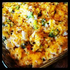 Broccoli, Cheddar & Brown Rice Casserole (Gluten Free) -onions and careful with bullion cubes
