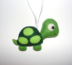Wool Felt Turtle Ornament, Turtle Ornament, Felt Turtle, Baby Shower Gifts, Nursery, Birthday Gift, Housewarming Ornament, Wall Decor, Gift