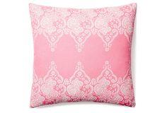 59.00 Monterey 20x20 Cotton Pillow, Pink on OneKingsLane.com