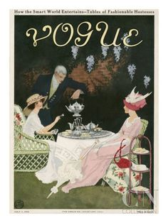Vogue Cover, July 1911 by Mrs. Newell Tilton - The Condé Nast Collection