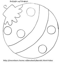 Printable Christmas Ornament Templates  click on the template