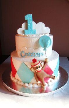 cute, cute , cute sock monkey cake