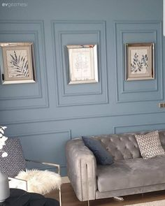 Cool Colors of This House Add Fresh Breath to Stylish Decoration Victorian Fabric, Couch Covers, Interiores Design, Slipcovers, Luxury Homes, Decoration, Home Accessories, Upholstery, House Design
