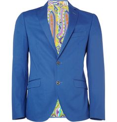 Etro Minerva Slim-Fit Silk-Blend Blazer | MR PORTER