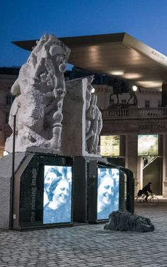 Ruth Beckkermann completes the Memorial against War and Fascism on Albertina Platz with The Missing Image Installation in march Gustav Mahler, The Uncanny, Dream City, Vienna, Austria, Mount Rushmore, March, Colorful, World