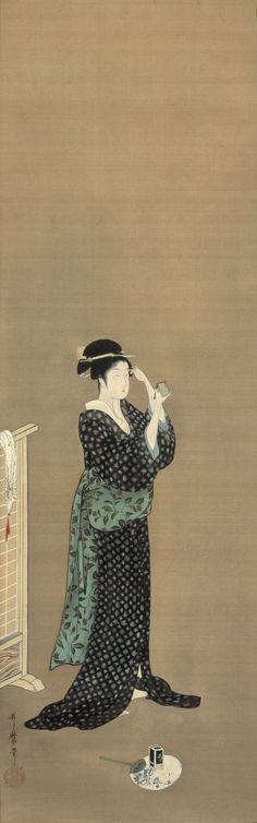 差DMA-喜多川歌麿 夏姿美人図