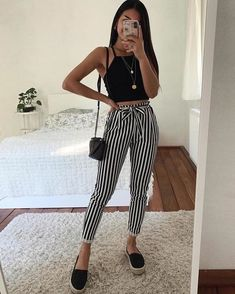 Image could contain: one or more people and stripes Image may contain: one or more people and stripes Image may contain: one or more people and stripes Beulah Lee - Outfit Fashion Teenage Outfits, Teen Fashion Outfits, College Outfits, Outfits For Teens, Tumblr Outfits, Mode Outfits, New Outfits, Cute Casual Outfits, Cute Summer Outfits