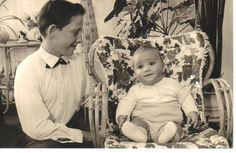Me as a baby with my 13 year old brother in 1962