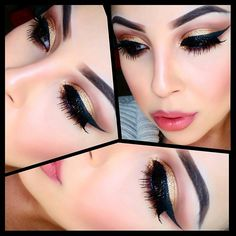Beauty&More: Bronze Eye Make Up with Thick Eyeliner
