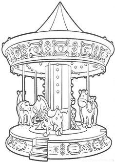 Carrousel Dessin 117 meilleures images du tableau coloriage caroussel | crayon art