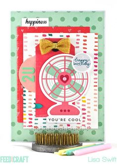 Card Share: You're Cool for Feed Your Craft (FYC Birthday Wishes doodle flair designed by Brandi Kincaid)