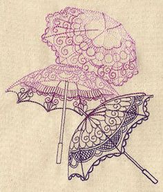 Umbrellas Parasols Embroidered Flour Sack by EmbroideryEverywhere, $12.99