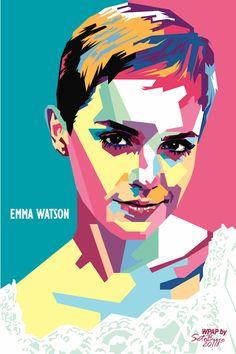 Emma Watson vector illustration by Seto Buje