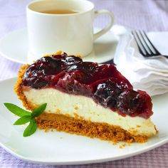 You'll taste the difference in this no bake cherry cheesecake pie that doesn't use preservative filled canned pie filling or packaged dessert topping.