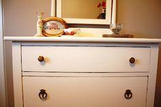 Vintage Renewed  #antique #vintage #shabbychic #dresser #cream #beautiful #mirror #old