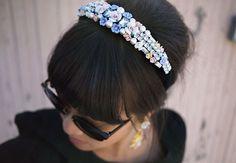 Flower and Rhinestone Headband   40 Hair Accessories You Can Buy or DIY