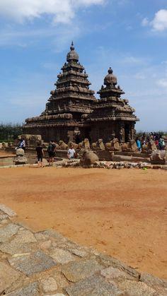 Shore Temple at Mamallapuram, Tamil Nadu, India.