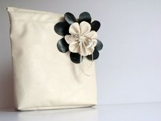 Bridesmaids clutchesCream floral bridesmaid by hibbe on Etsy, $30.00