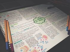 "emotionalstudent: ""10:34pm// Finally finished this biology mindmap! """