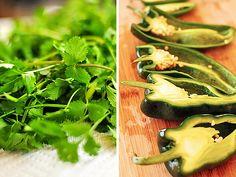 Roasted Pepper Pistachio Cilantro Pesto Recipe | http://shewearsmanyhats.com/cilantro-pepper-pesto/