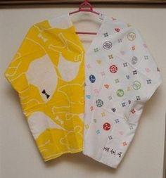 手ぬぐい手芸 四角衣:てぬログ Dress Brokat, Sewing Magazines, Fashion Sewing, Diy Clothes, Blouse Designs, Crochet Baby, Sewing Patterns, Couture, Fabric