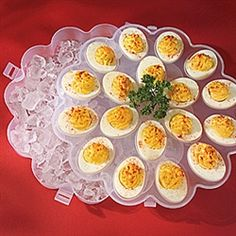 Keep Deviled Eggs Chilled And Fresh And Serve Them In