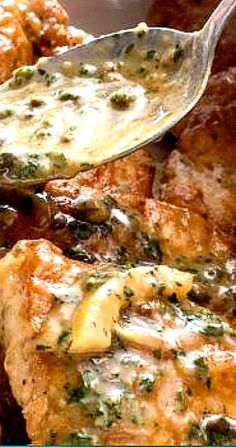 "Learn how to prepare Chicken Piccata from ""America's Test Kitchen from Cook's Illustrated. Italian Dishes, Italian Recipes, Kitchen Recipes, Cooking Recipes, American Test Kitchen, Cooks Illustrated Recipes, Cooks Country Recipes, Chicken Piccata, Vegan"