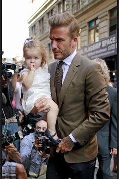 David Beckham and baby Harper