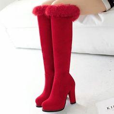 e73160be95e7 Korean Comfortable Side Zipper Knee High Boots | CLOTHING - COATS, JACKETS,  BOOTS, SCARVES, SWEATERS, GLOVES | Pinterest | Boots, Knee High Boots and  Shoes