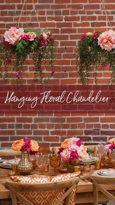 Hanging Floral Chandelier Decorate your weddingor home with gorgeous hanging arrangements that will truly enhance the beauty of any room!