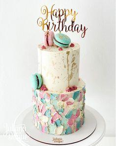 Pastel Cakes, Colorful Cakes, Macarons, Sprinkles, Vanilla Cake, Sweet Recipes, Cookies, Birthday, Desserts