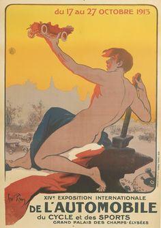 14ème exposition internationale de l'automobile, du cycle et des sports - Grand Palais des Champs Elysées - Paris - 1913 - illustration de René Péan -
