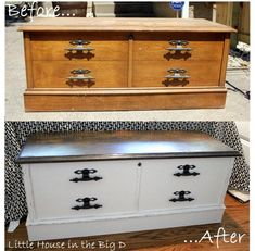 Little House in the Big D: Chalk Paint trail and Hope Chest makeover