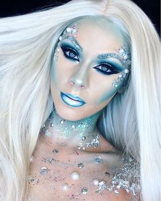 """1,473 Likes, 24 Comments - JadeDeacon (@jadedeacon) on Instagram: """"Ice queen makeup ❄️ using @gogetglitter wig is from @powderroomd #icequeen #gogetglitter…"""""""