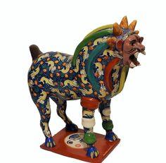 Amazing Nagual by Salvador Vazquez Jr.  Burnished Ceramic Tonala Mexico #Nagual #Nahual #MexicanArt #MexicanFolkArt #Tonala