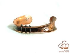 handforged, copper and sterling silver bracelet