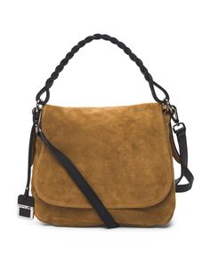 cab5794ceeef Made In Italy Leather Suede Flap Saddle Bag - Crossbody Bags - T.J.Maxx