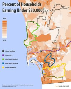 A look at which San Diego neighborhoods have the highest concentrations of poor residents.    More: http://vosd.org/OZoy8D    #sandiego #chulavista #income #poverty #california